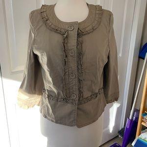 Loft Ruffle button jacket size 10